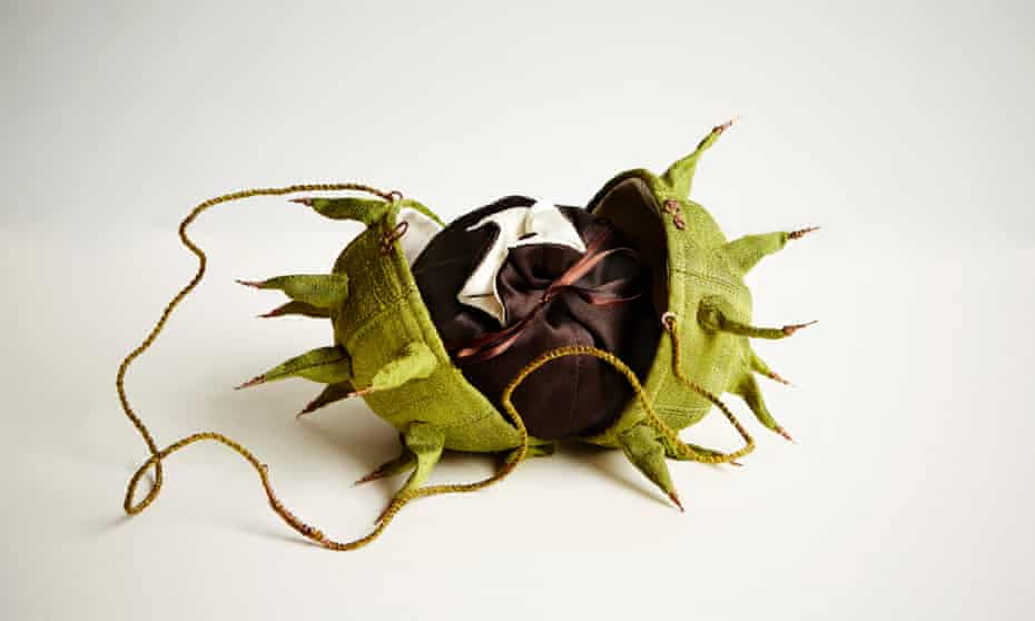 Horse Chestnut Bag with Conker Purse, 1996, by Emily Jo Gibbs.