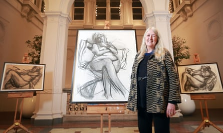 Mary Beard unveils a nude portrait of herself by artist Catherine Goodman.