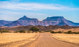 On the road toward Khorixas in the Kunene region, Damaraland.