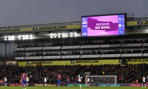 VAR ruled out a goal from James Tomkins before the break.