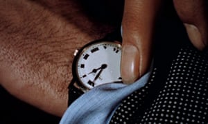 In a tick … a still from The Clock, which is showing at Tate Modern.