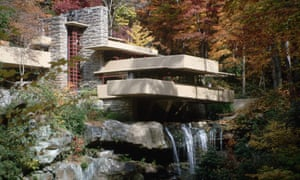 Frank Lloyd Wright's Fallingwater House in Mill Run, Pennsylvania, was completed in 1939