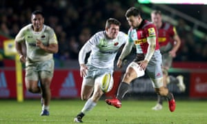Danny Care 's delightful chip through sets up Charlie Walker's try for Harlequins in their thrilling victory against Saracens.