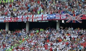 Fans at the England v Panama