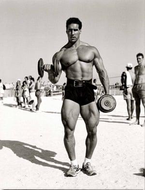 E.J. Pence, competitive bodybuilder South Beach, 1990