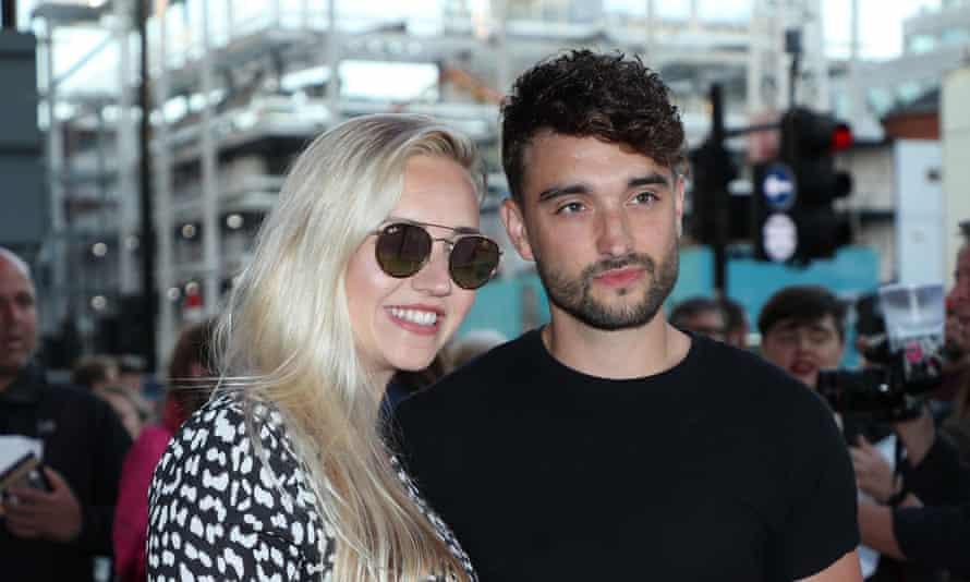 Tom Parker with wife Kelsey Hardwick, in September 2019.