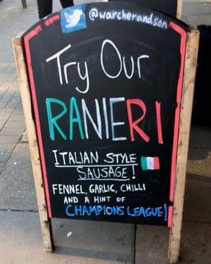 A Leicester butcher's tribute to the Claudio Ranieri effect