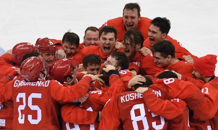 After Going Shot For Olympic Athletes From Russia Win Men S Hockey Gold The Torch Npr