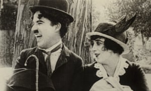Charlie Chaplin and Mabel Normand in His Trysting Place.