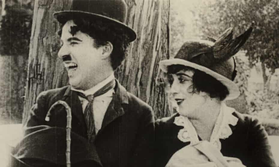 Normand with Charlie Chaplin in His Trysting Place (1914).