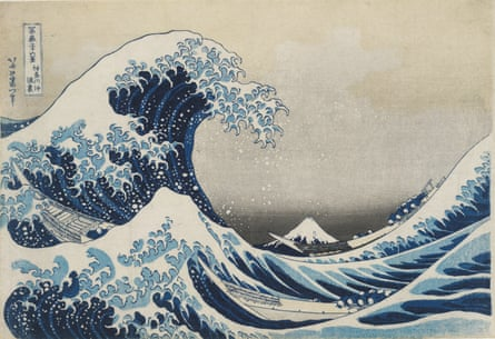 Under the Wave Off Kanagawa (The Great Wave), from Thirty-six Views of Mount Fuji, 1831 by Hokusai.