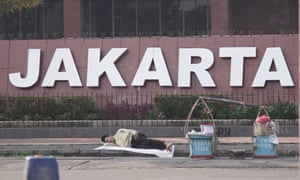 Even Jakarta's street food sellers need to rest sometimes.