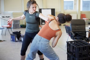 Chloe-Ann Tylor and Ruby Barker in rehearsal.