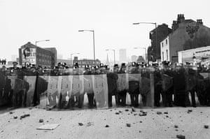 Anti-Nazi demonstrators attack police in Digbeth, 1978