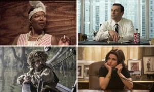 Composite of emmy nominees Bessie, Mad Men, Game of Thrones, and VEEP
