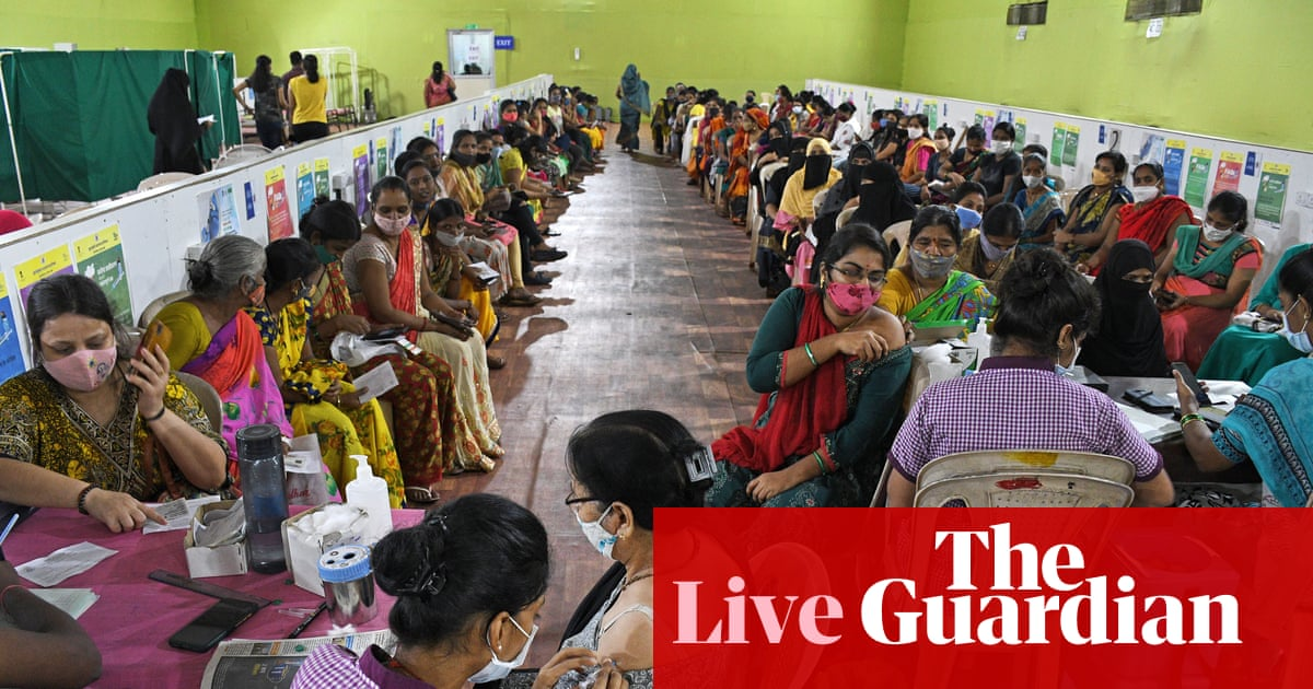Covid live news: India reports lowest deaths since mid-March; England parents warned over hoax vaccine letter