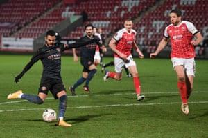 Riyad Mahrez filed attempt at goal.