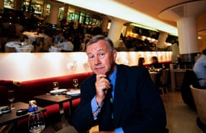 Terence Conran at the opening of his new restaurant Mezzo, in Soho, London, on October 11, 1995.