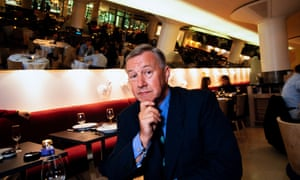 Terence Conran at the opening of his restaurant Mezzo, in Soho, London, 1995.