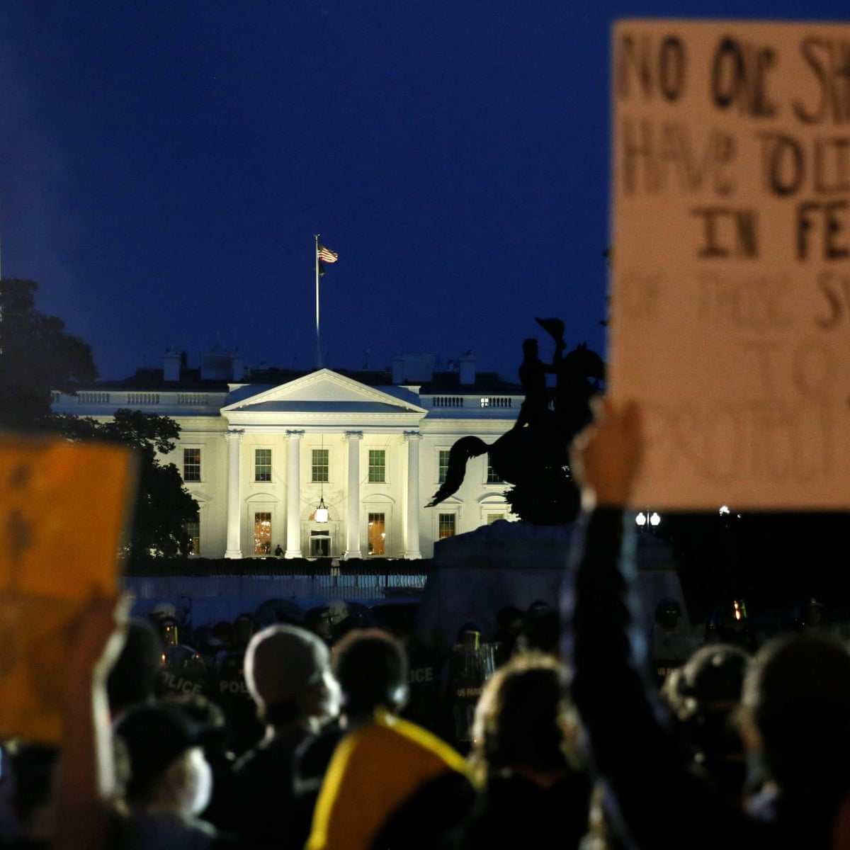 Trump Fled To Bunker As Protests Over George Floyd Raged Outside White House George Floyd The Guardian