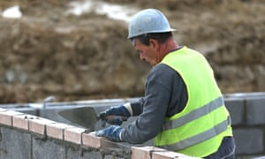 Construction workers on a housing development