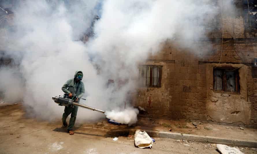 Fumigation in Sana'a, Yemen