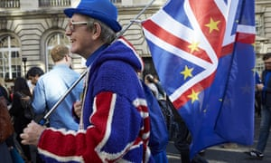 An anti-Brexit campaigner pictured during last month's People's Vote march ion London