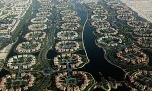 Jumeirah islands in Dubai