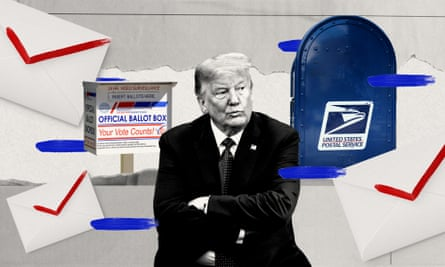 Donald Trump has falsely said mail-in voting will lead to fraud.