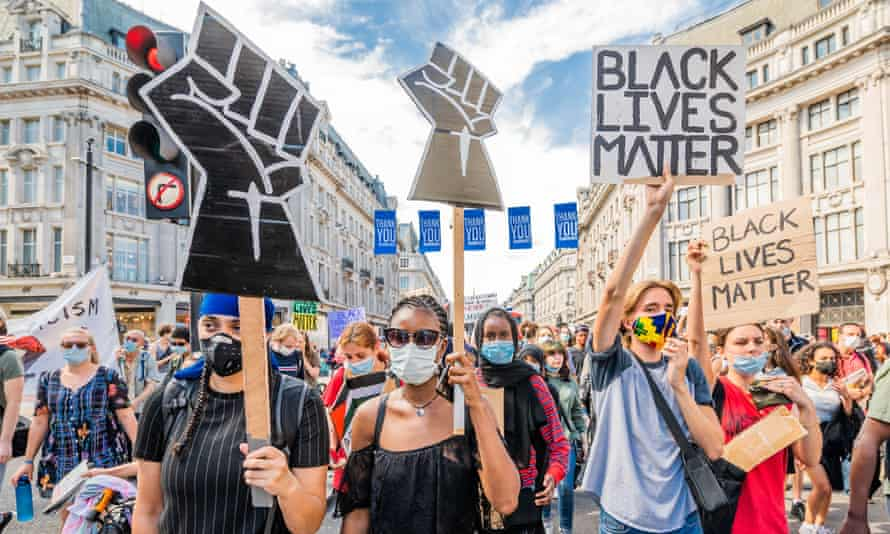A Black Lives Matter protest in London in July.