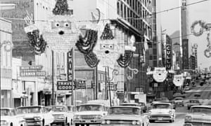 Christmas decorations in Dallas. They were put up for President Kennedy's visit.