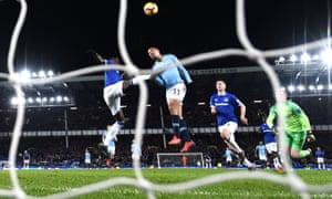 Manchester City's Gabriel Jesus scores the second goal.