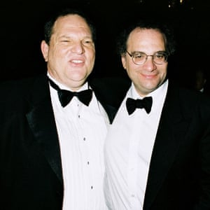 Brothers Harvey and Bob Weinstein in New York in 2001.
