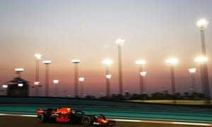 Max Verstappen with a four second lead
