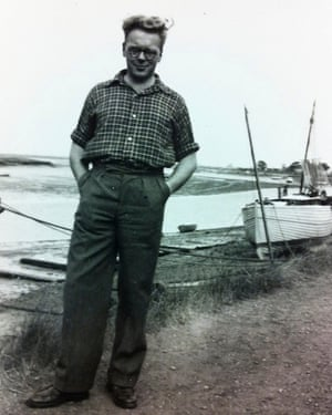 Baker as a young man on the Essex coast.