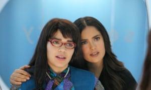 Mirror mirror: Hayek guest stars in Ugly Betty with America Ferrera.
