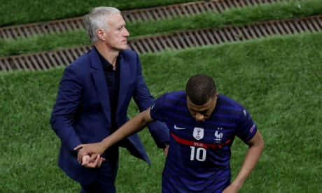 'It really hurts': Deschamps defends Mbappé as France fall to Switzerland – video