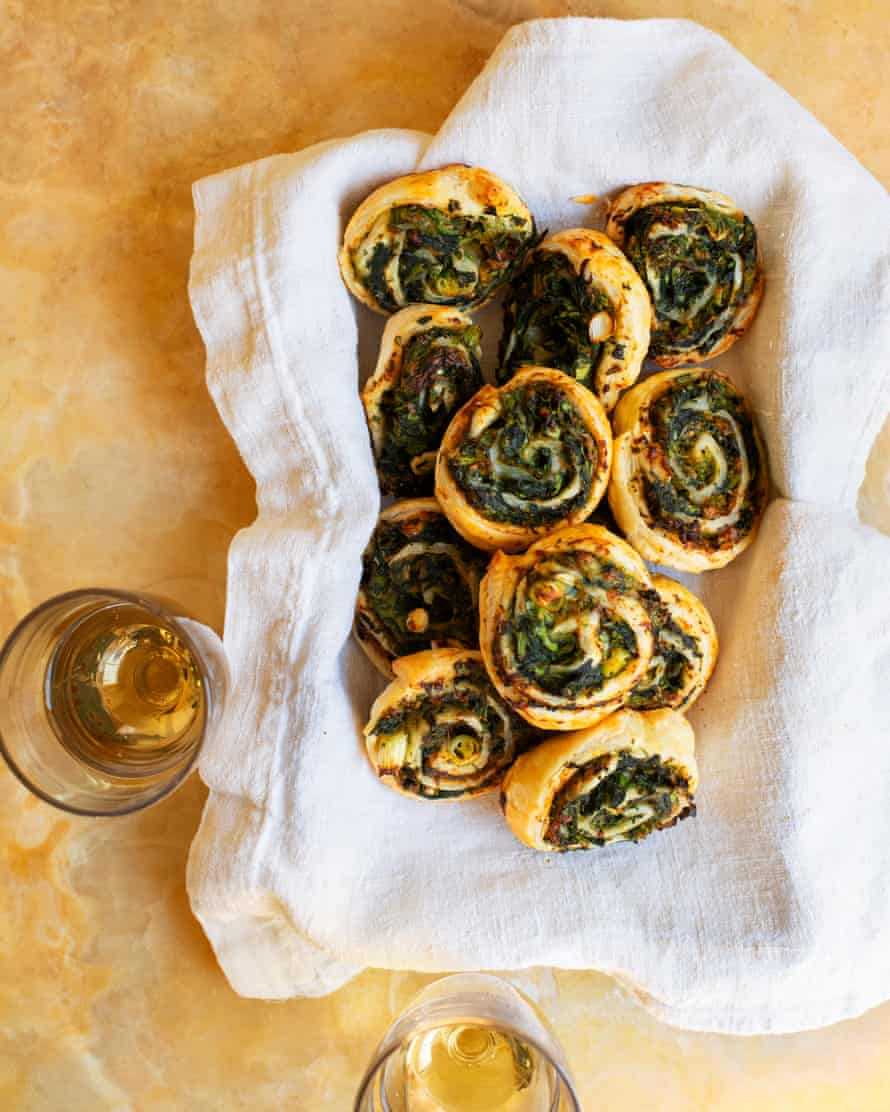 'Rather addictive': miso and spinach pastries.