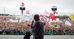 Jeremy Corbyn calls for unity in Glastonbury speech | Music