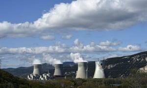 The Cruas nuclear power plant near the Rhône River in France.
