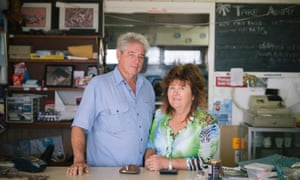Ailsa and Alan Smith the owners of Capricorn Lodge, the only business on Curtis Island apart from the LNG plants.