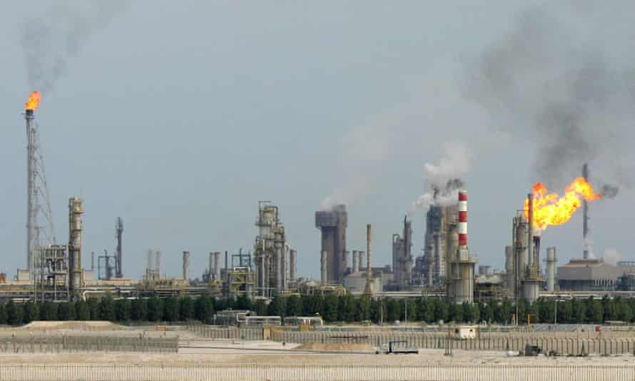 Oil refinery on the outskirts of Doha, Qatar