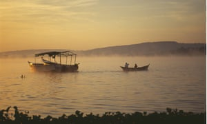 """Golden sunrise over Lake Victoria."""