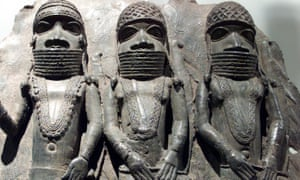 The Sainsbury African galleries at the British Museum include 16th century brass plaques from the royal palaces in Benin.