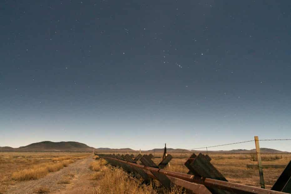 The deceptively beautiful landscape around Antelope Wells in the remote south-western corner of New Mexico.