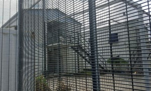 Security fences surround buildings inside the Manus Island detention centre in Papua New Guinea.