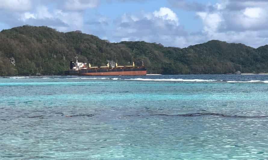 oil tanker spilling oil in the Solomon Islands