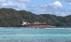 A bulk carrier is spilling oil near a Solomon Islands world heritage area.