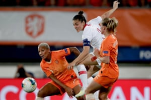 Didem Karagenç in action for Turkey against the Netherlands this month.