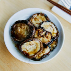 Woky Ko Kaiju's 'deceptively simple' grilled shiitake caps in roast garlic soy.